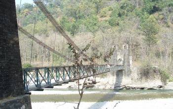 Suspension bridge Jim Corbett